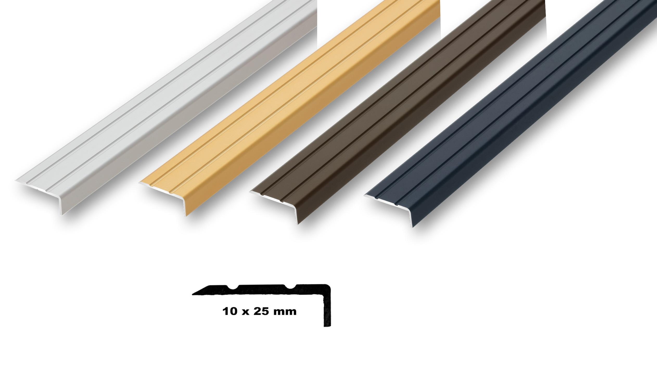 gebohrt ungebohrt , gold 30 x 32 x 1000 mm Treppenkantenprofil Treppenwinkel 30 x 32 x 1000 mm 6 Farben Kantenschutz ungebohrt-selbstklebend selbstklebend Kantenwinkel |